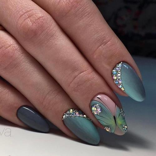 Красивый дизайн ногтей  2018 новинки гель лаком 18
