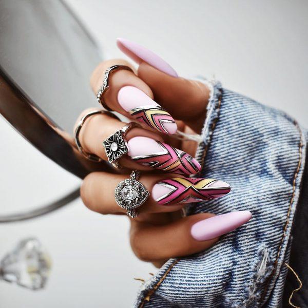 Красивые длинные ногти в модном дизайне 2020-2021: лучшие идеи и тренды