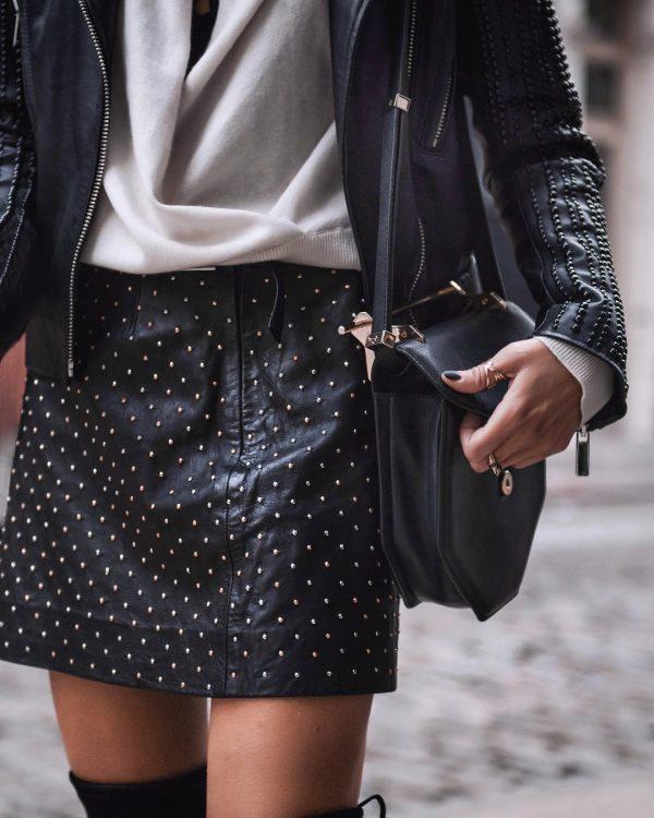 Кожаный тренд в женской одежде 2020-2021: фото обзор, модные новинки кожаной одежды