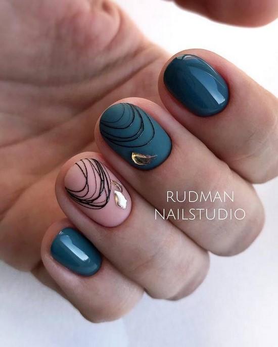 Креативный маникюр осень 2021. Восхитительные ногти осень в различных техниках дизайна