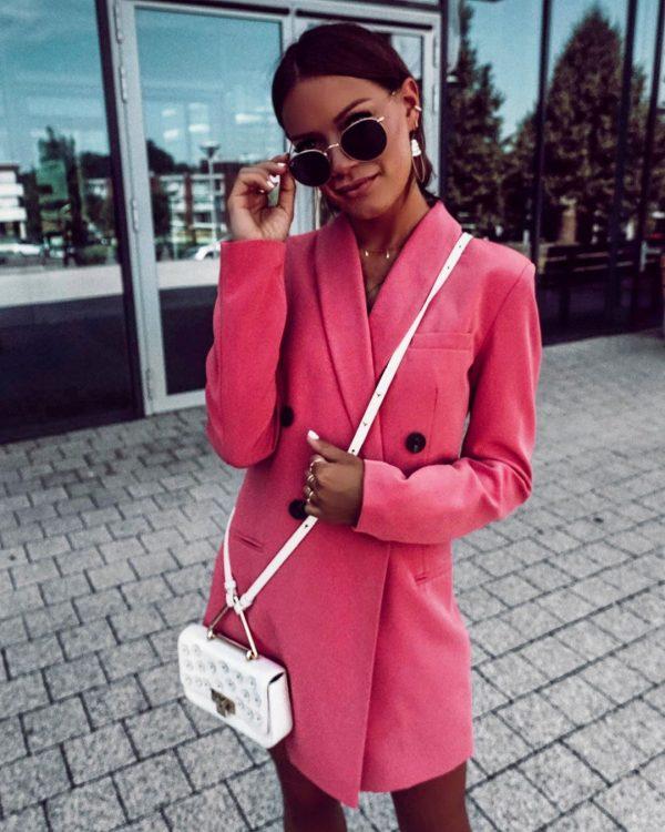 Стильные платья фасона пиджак в сезоне 2020-2021: модные образы, фото новинки