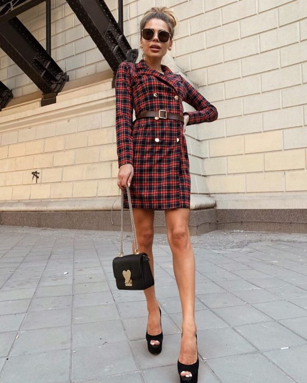Стильные платья фасона пиджак в сезоне 2019-2020: модные образы, фото новинки