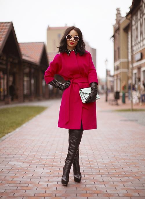 Красное пальто с чем носить 2018